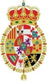 Coat of arms of Charles III, Charles IV, Ferdinand VII, Isabella II, Alfonso XII and Alfonso XIII of Spain.