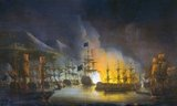 The Bombardment of Algiers (27 August 1816) was an attempt by Britain to end the slavery practices of the Dey of Algiers. An Anglo-Dutch fleet under the command of Admiral Lord Exmouth bombarded ships and the harbour defences of Algiers.<br/><br/>  Although there was a continuing campaign by various European and the American navies to suppress the piracy against Europeans by the North African Barbary states, the specific aim of this expedition was to free Christian slaves and to stop the practice of enslaving Europeans. To this end, it was partially successful as the Dey of Algiers freed around 3,000 slaves following the bombardment and signed a treaty against the slavery of Europeans. However, the cessation of slavery did not last long.